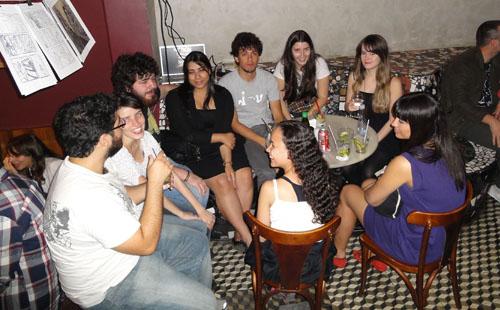 Beber & HQ 06 no afé com letras em BH, Ila Fox, Lu Cafaggi, Eduardo Damasceno, Mariamma, Samanta, Ladys Comics