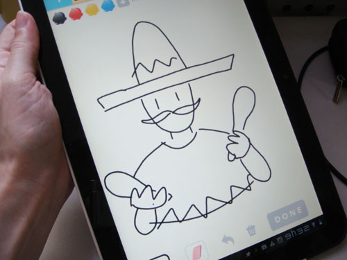 Jogando Draw Something, Draw Something, foto by ila fox
