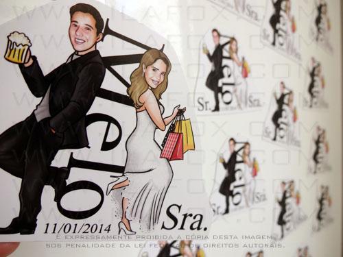 caricatura casamento, caricatura noivos, caricatura casal, caricatura sr e sra smith, caricatura para noivinhos, by ila fox