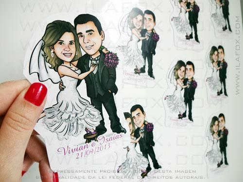 caricatura noivinhos, caricatura casal, caricatura personalizada, lembrancinha para casamentos, lembrancinha original,  by ila fox
