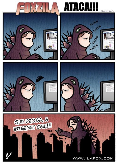 Odeio quando a internet cai