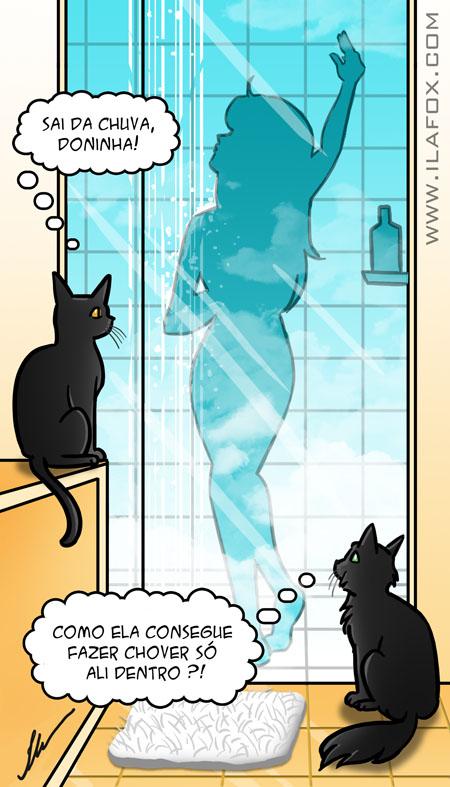 Por que gatos gostam de ficar no banheiro? ilustração by ila fox