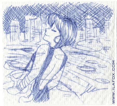 desenho feito no guardanapo art por ila fox