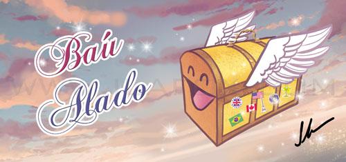 Cabeçalho, blog viagens, baú Alado, by ila fox