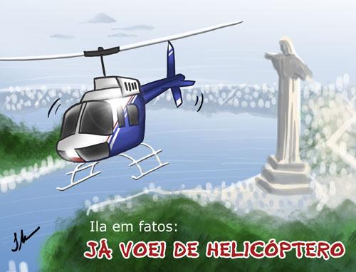Ila em fatos: já voei de helicóptero no Rio de Janeiro, vôo de helicóptero no Rio de Janeiro, Morro da Urca, Cristo Redentor, Ila Fox e Ricbit