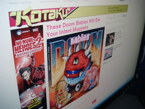 Ila Fox no site Kotaku, tô famosa