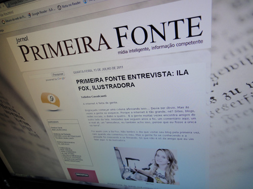 Entrevista, Ila Fox no primeira Fonte, by Stela cavalcanti