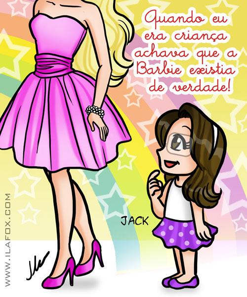 Barbie existe de verdade, jack, ilustração by ila fox