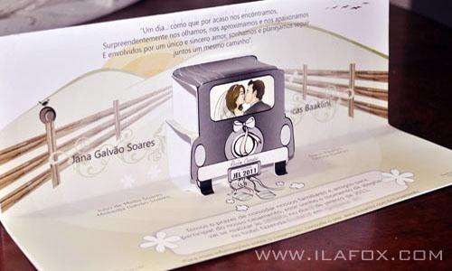 Caricatura, casal, convite, noivos, corpo inteiro, colorido, beijando, noivinhos Jana e Lucas, by ila fox