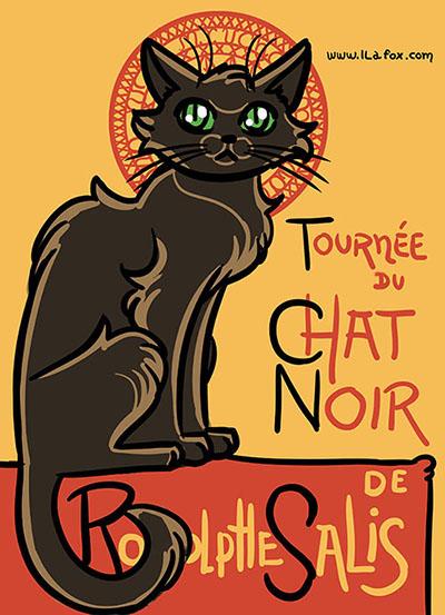 Le Chat Noir, Versão Brasileira, desenho, ilustração, by ila fox