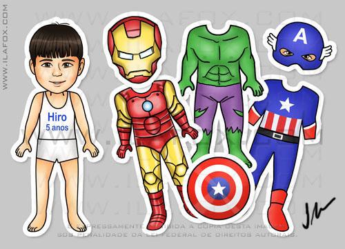 Lembrancinhas originais, lembrancinhas personalizadas, lembrancinha de roupinha, lembrancinha Vingadores, lembrancinha Avengers