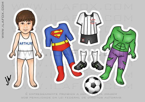 lembrancinha imã, original, festa infantil, temática Super Homem, Incrível Hulk, Uniforme Corinthians by ila fox