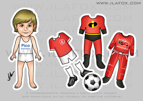 Lembrancinhas infantis, original, lembrancinha divertida, lembrancinha os Incríveis, Uniforme time Internacional, Carros, by ila fox
