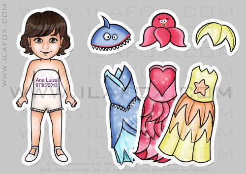 Lembrancinha princesas do mar, lembrancinha de roupinhas, lembrancinha original, by ila fox