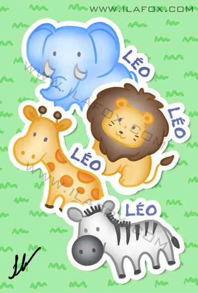 Lembrancinha infantil zoologico, elefante, leão, girafa, zebra imãs, by ila fox
