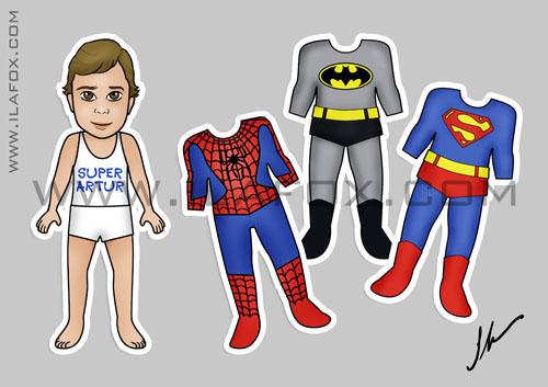 lembrancinha original imã, meninos, super heróis, super homem, batman, homem aranha, by ila fox
