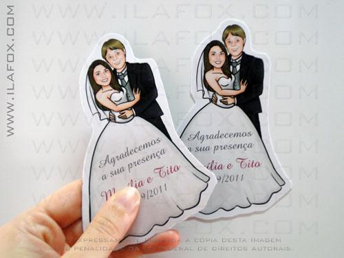 Caricatura noivos, casal, corpo inteiro, colorido, lembrancinha casamento, original, by ila fox