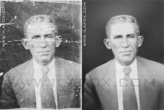 restauração fotografia antiga, antes e depois, by ila fox