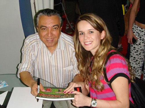 eu e Maurício de Sousa no FIQ