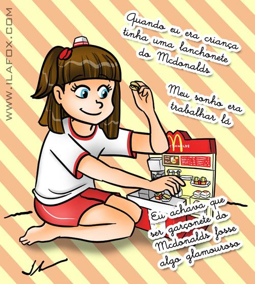 recordar é viver, quando era criança queria ser garçonete do mcdonalds, brinquedo lanchonete mcdonalds anos 80