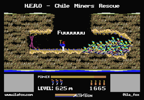 resgate dos mineiros no chile, HERO, MSX, by ila fox