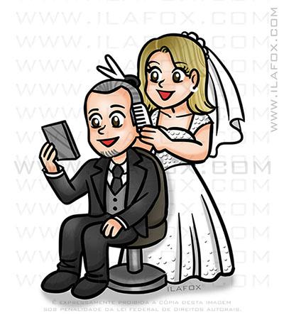caricatura casal, caricatura delicada, caricatura casal, caricatura divertida, by ila fox