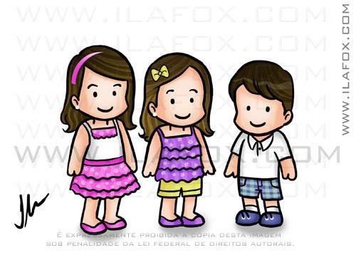 caricatura fofinha, caricatura infantil, by ila fox