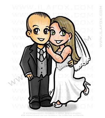 caricatura fofinha, caricatura casal, caricatura delicada, by ila fox