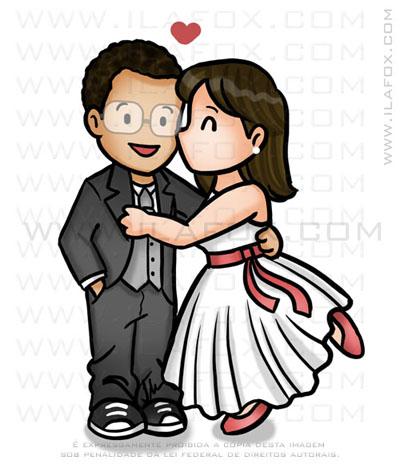 caricatura fofinha, caricatura simples, caricatura pequena, caricatura para lembrancinhas, dando beijinho, by ila fox