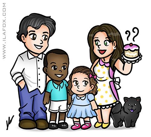 caricatura fofa, caricatura fofinha, caricatura família, caricatura my love valentina, caricatura by ila fox