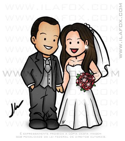 Caricatura fofinha, caricatura casal, caricatura personalizada, by ila fox
