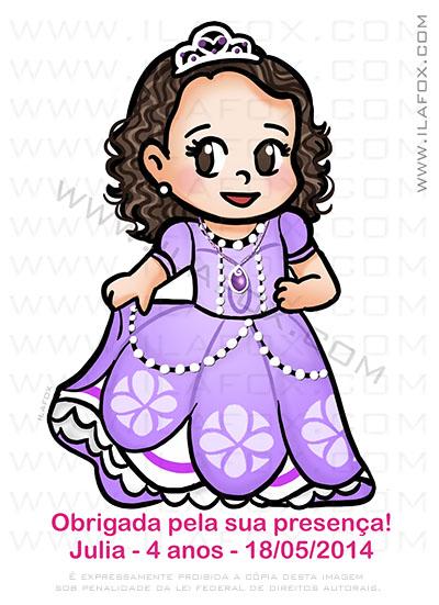 caricatura fofinha, caricatura infantil, caricatura princesa sophia, by ila fox