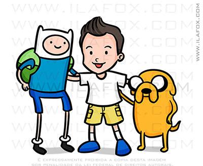 caricatura fofinha, caricatura personalizada, caricatura hora da aventura