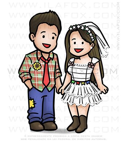 caricatura junina, mini caricatura, caricatura noivos, caricatura temática, caricatura festa, caricatura divertida, by ila fox