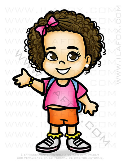 caricatura fofinha, mini caricatura, caricatura infantil, dora aventureira, by ila fox