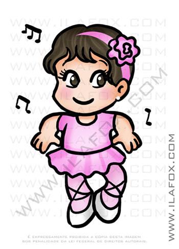 caricaturas fofinhas, caricaturas infantis, bailarina, caricaturas personalizadas, by ila fox