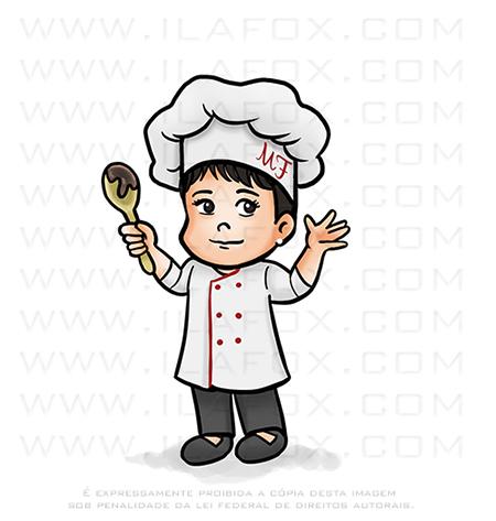 caricatura infantil, caricatura chef, caricatura fofinha, caricatura digital, by ila fox