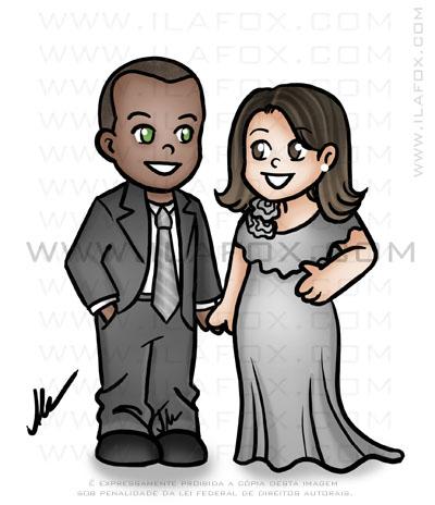 caricatura fofinha, caricatura simples, caricatura noivos, caricatura para noivinhos, caricatura para lembrancinhas pequenas by ila fox