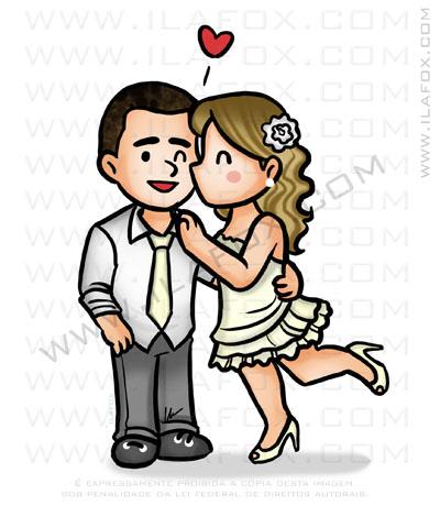 caricatura fofinha, caricatura meiga, caricatura pequena, caricatura para noivos, caricatura casamento, by ila fox
