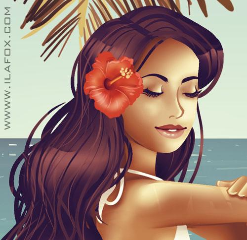 morena tropicana, mulher brasileira, ilustração by ila fox