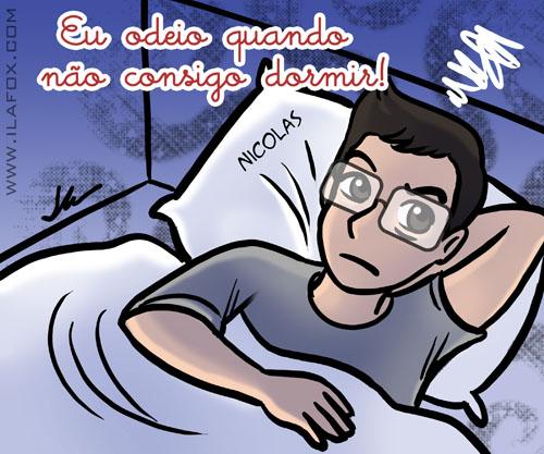 Eu odeio quando não consigo dormir, nicolas ueda, ilustração by ila fox