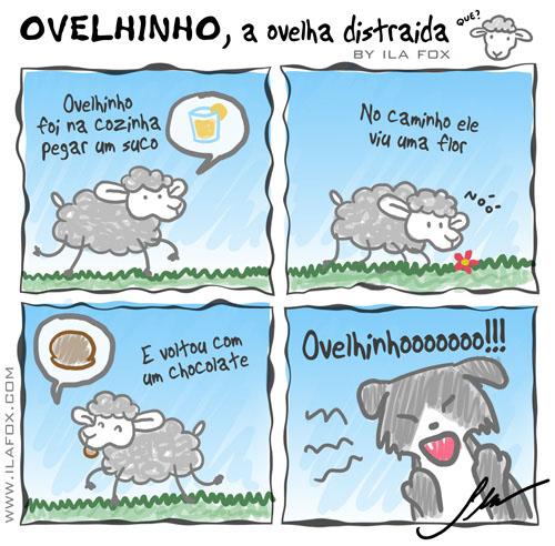 carneiro ovelha, ovelhinho, a ovelha distraída - quadrinhos by ila fox