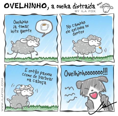carneiro ovelha, ovelhinho a ovelha distraída ia tomar leite quente - quadrinhos by ila fox