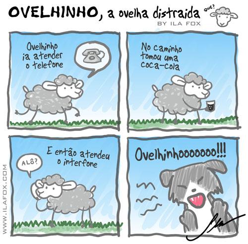 carneiro ovelha ovelhinho a ovelha distraída vai ao trabalho by ila fox