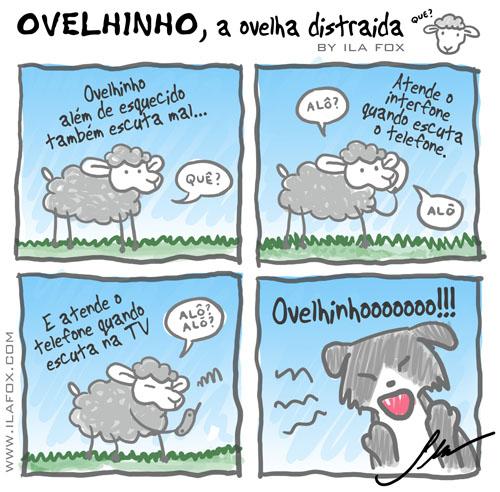 carneiro ovelha ovelhinho a ovelha distraída escuta mal by Ila Fox