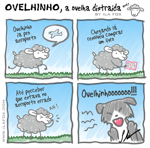 Ovelhinho ao ovelha distraída errou de aeroporto, by ila fox