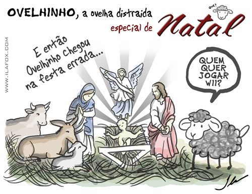 ovelhinho a ovelha distraída, especial de natal by ila fox