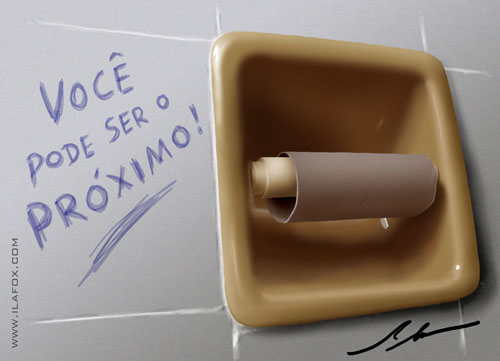 rolo de papel higiênico vazio by Ila Fox