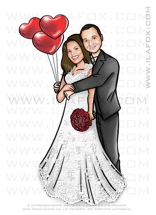 caricatura casal, caricatura noivinhos, caricatura casamento, caricatura abraçados, by ila fox