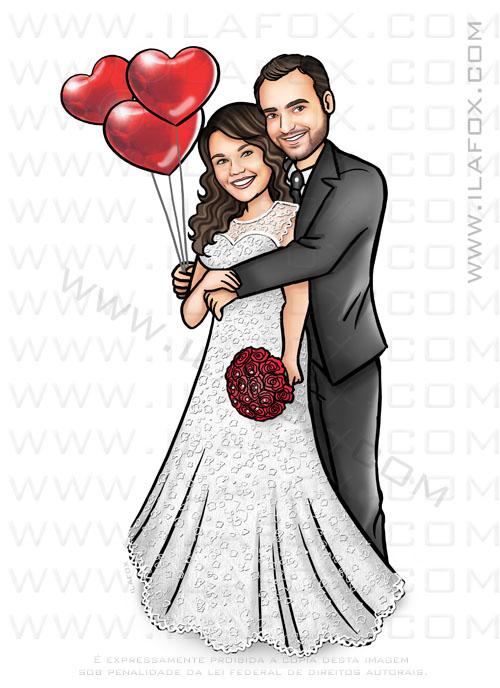 caricatura casal, caricatura noivinhos, caricatura bonita, caricatura para casamentos, by ila fox